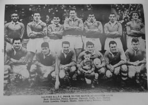 Hugh lines up with his Salford Teammates 1958
